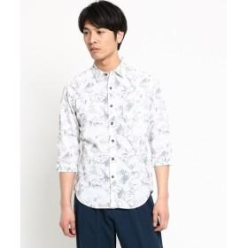 THE SHOP TK / ザ ショップ ティーケー ボタニカルプリント七分袖カジュアルシャツ