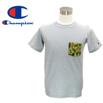 CHAMPION REVERSE WEAVE T-SHIRT チャンピオン リバース ウィーブ Tシャツ OXFORD GREY/CAMO