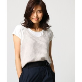 UNTITLED / アンタイトル 【洗える】ニットキャミソール×Tシャツセット