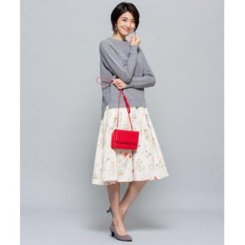 S size ONWARD(小さいサイズ) / エスサイズオンワード 【MORE12月号掲載/洗える】ボタニカルフラワープリント スカート