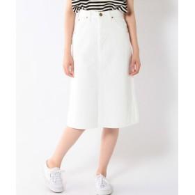 SHIPS for women / シップスウィメン LEE:ホワイトデニムスカート