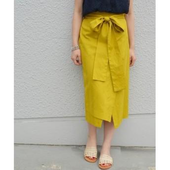 SHIPS for women / シップスウィメン Prefer SHIPS: コットンヘリンボーンジャカードラップスカート