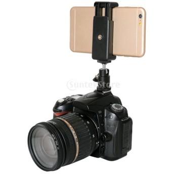 電話クリップホルダー ボールヘッド ホット シュー アダプターマウント ニコンDSLRカメラに対応 黒 カメラアクセサリー