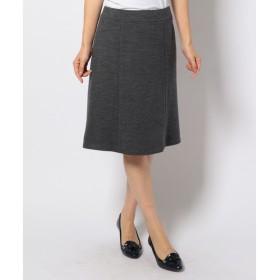 L size ONWARD(大きいサイズ) / エルサイズオンワード ハイゲージモクロディ スカート