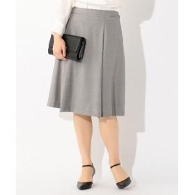 L size ONWARD(大きいサイズ) / エルサイズオンワード シルクウールスーテイング スカート