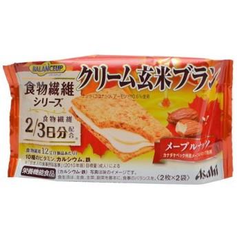 バランスアップ クリーム玄米ブラン 食物繊維シリーズ メープルナッツ 2枚×2袋×6個