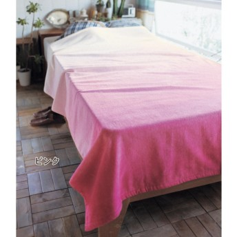 タオルケット ケット ベルメゾン グラデーションのタオルケット カラー ピンク