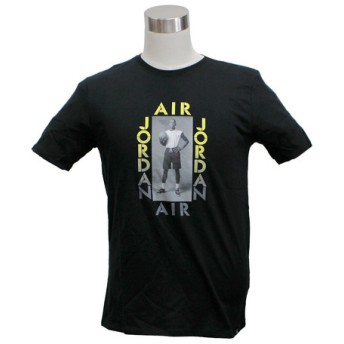 NIKE JORDAN PHOTO TEE ナイキ ジョーダン フォト Tシャツ BLACK/OPTI YELLOW