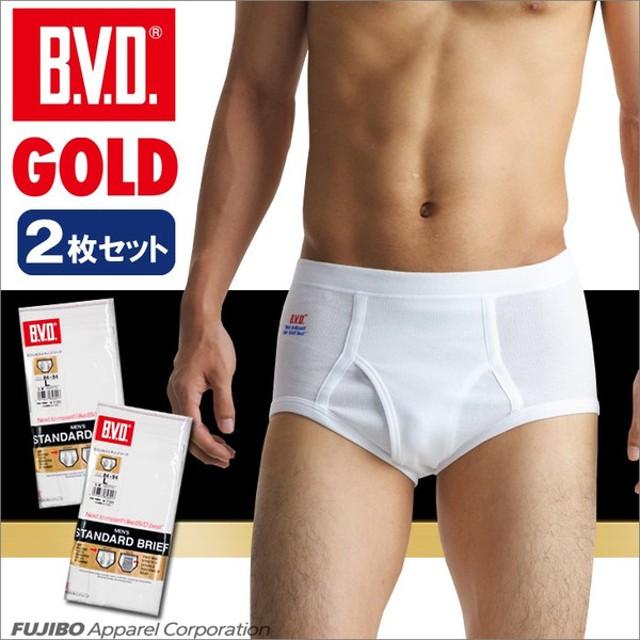 ブリーフ  2枚セット パンツ セット/メンズ/BVD スパンスタンダード/GOLD/B.V.D./綿100%
