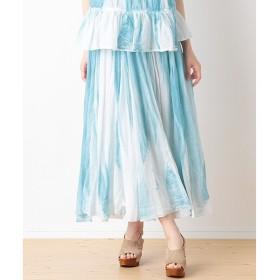 SHIPS for women / シップスウィメン スプレープリント マキシスカート