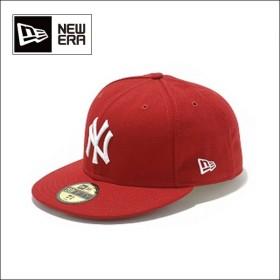 NEWERA ニューエラ キャップ 59FIFTY カスタム/ニューヨーク・ヤンキース スカーレット x ホワイト 5950 NEYYAN