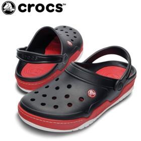 クロックス crocs サンダル ユニセックス フロント コート クロッグ BK/RD 14300 od