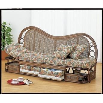 豪華で上品な高級ジャカード織生地使用 カウチソファー幅185cmタイプ