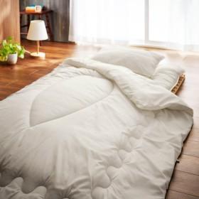 布団 布団セット 収納袋付ふんわりした寝心地のベッド用布団セット圧縮梱包 シングル