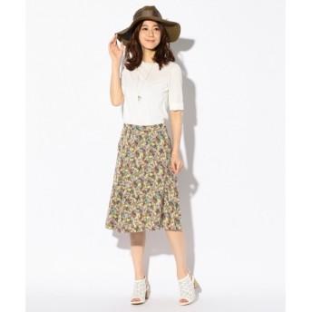 組曲 / クミキョク 【洗える】PalmHouseプリント スカート