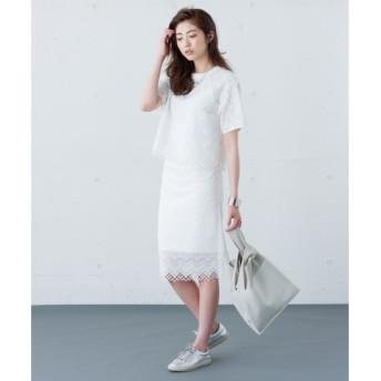 ICB / アイシービー 【セットアップ可 / 洗える】Jagged Lace スカート