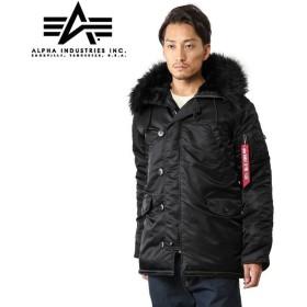 ALPHA アルファ N-3Bフライトジャケット JAPAN FIT ブラックファー 20094-7401 メンズ ミリタリージャケット コート ブルゾン ブランド【Sx】【予】