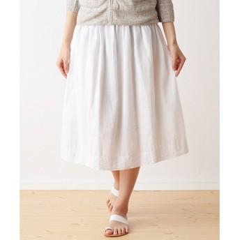 Harriss / ハリス コットンリネン刺繍2WAYスカート