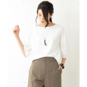 J.PRESS / ジェイプレス エンブロイダリージャージー 袖刺繍カットソー