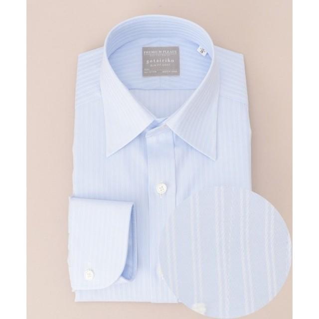gotairiku / ゴタイリク 【形状安定】スリム プレミアムプリーツ ドレスシャツ レギュラーカラー