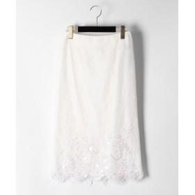 GRACE CONTINENTAL / グレースコンチネンタル レース刺繍スカート