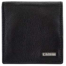 カルバンクライン Calvin Klein コインケース 小銭入れ ボックス型 レザー ブラック COIN CASE 79217 新品未使用