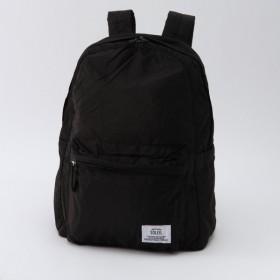 バッグ カバン 鞄 レディース リュック 撥水ポケッタブルリュック/レジスタント カラー ブラック