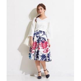 S size ONWARD(小さいサイズ) / エスサイズオンワード ビッグフラワープリント スカート