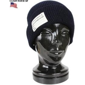 ミリタリーキャップ 新品 U.S.NAVY ワッチキャップ ネイビー ニットキャップ ニット帽