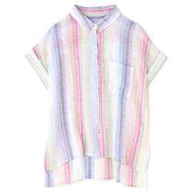 ROSE BUD / ローズ バッド [RAILS]ストライプ半袖シャツ