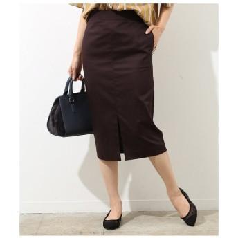 ROPE' / ロペ シャンブレーフロントスリットタイトスカート