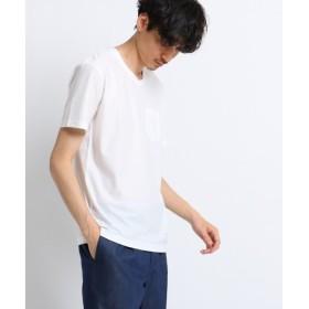TAKEO KIKUCHI / タケオキクチ ミニヘリンボンTシャツ [ 吸汗速乾 メンズ Tシャツ ]