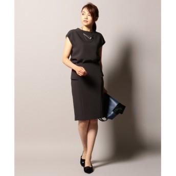 L size ONWARD(大きいサイズ) / エルサイズオンワード 【セットアップ対応】RoundNap スカート