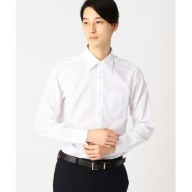 COMME CA ISM / コムサイズム イージーケア ドレスシャツ 市松ジャガード(レギュラーカラー)