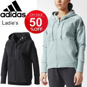 スウェット パーカー レディース adidas ID スタジアム フルジップ スエット 女性 トレーニングウェア フィットネス ジム トレーナー カジュアル /BWD83