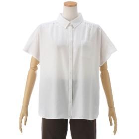 シャツ ブラウス レディース フレンチスリーブシャツ13 17号 オフ