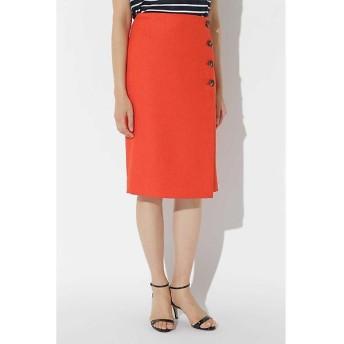 BOSCH / ボッシュ [WEB限定商品][ウォッシャブル]リネン調ツイル巻き風スカート