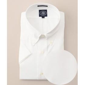 J.PRESS / ジェイプレス 【キングサイズ】プレミアムプリーツピンオックス 半袖BDシャツ