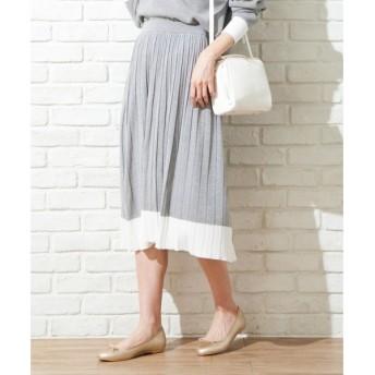 組曲 / クミキョク 【WEB限定アイテム/セットアップ対応】ラインニット スカート