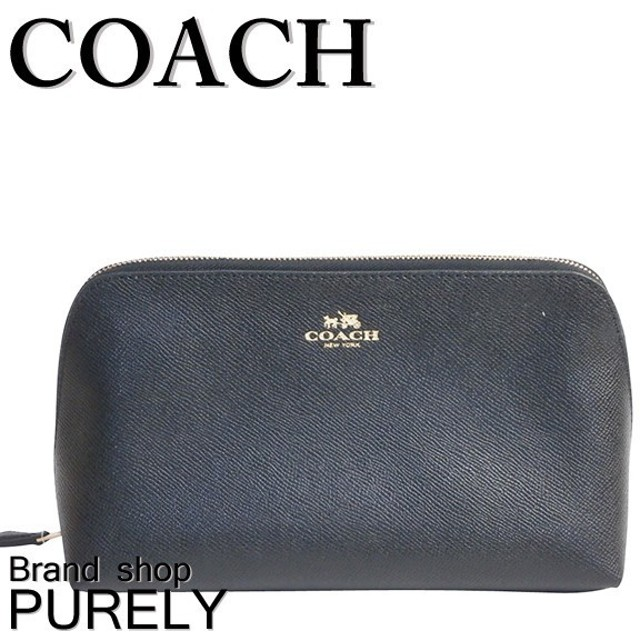 brand new 41139 03974 COACH コーチ クロスグレイン レザー コスメティック ケース ...