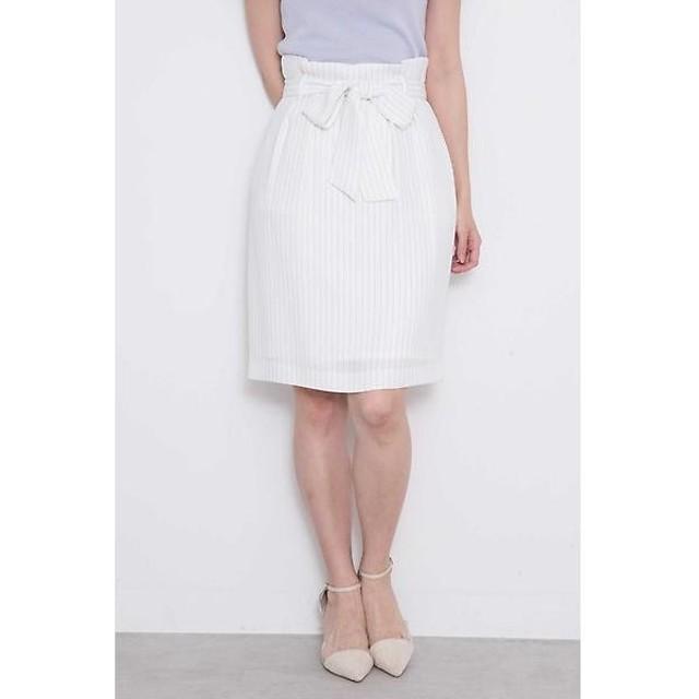 PROPORTION BODY DRESSING / プロポーションボディドレッシング  ストライプタックリボンスカート