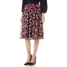 NATURAL BEAUTY / ナチュラルビューティー チュールドット刺繍スカート