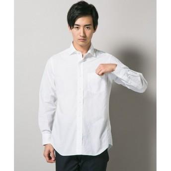 J.PRESS / ジェイプレス 【ビジカジ】コードボーダーワイドカラーシャツ