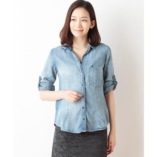 SHIPS for women / シップスウィメン bella dahl:ブルーインディゴシャツ