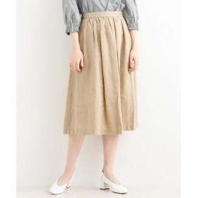 NIMES / ニーム 麻キャンバス タック&ギャザースカート
