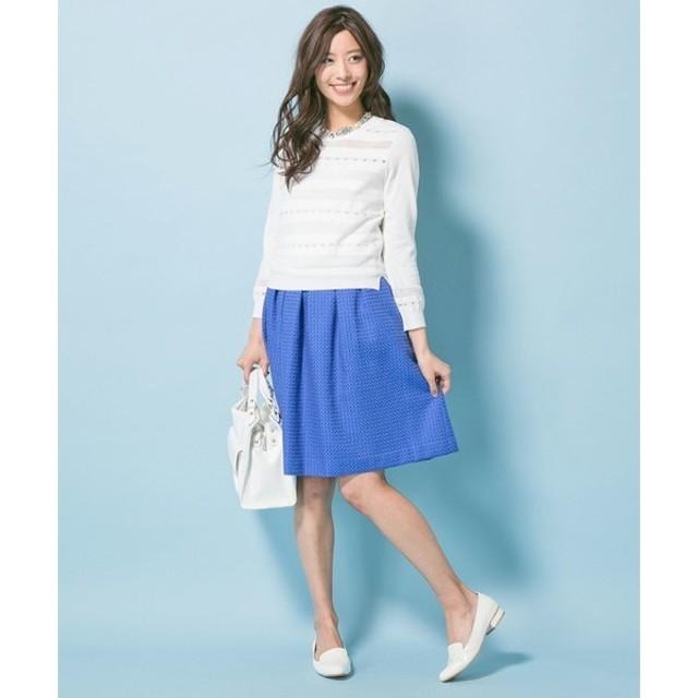 組曲 / クミキョク ('15春)スクエアチェックドビー スカート