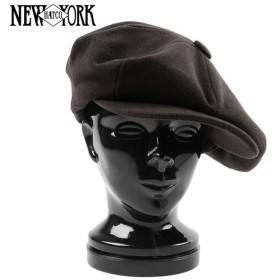 New York Hat ニューヨークハット 9080 ウール ビッグアップル ダークブラウン キャスケット メンズ アメカジ ブランド