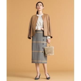 S size ONWARD(小さいサイズ) / エスサイズオンワード CANGIOLIホリゾンタルストライプ スカート