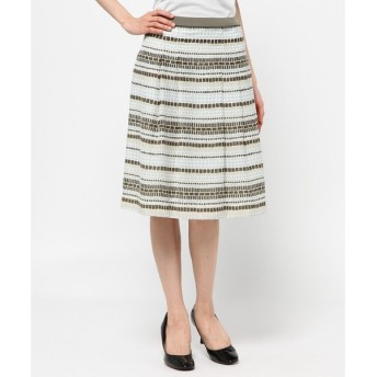 J.PRESS / ジェイプレス ドットボーダープリント スカート