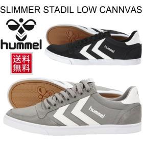 メンズ スニーカー  シューズ 靴/ヒュンメル Hummel/SLIMMER STADIL LOW CANNVAS/HM63112K